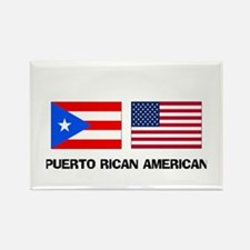 Puerto Rican American Rectangle Magnet