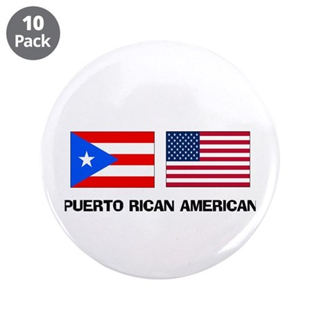"Puerto Rican American 3.5"" Button (10 pack)"