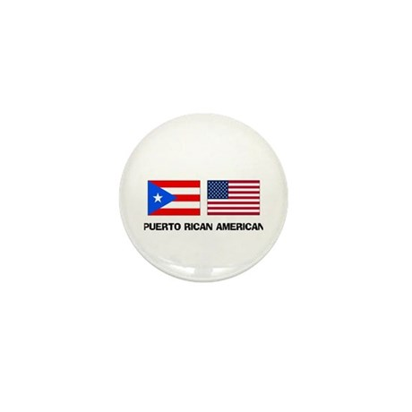 Puerto Rican American Mini Button (10 pack)