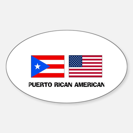 Puerto Rican American Oval Decal