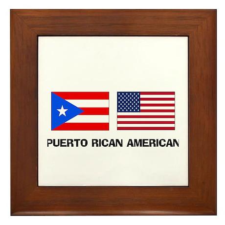 Puerto Rican American Framed Tile