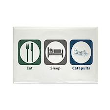 Eat Sleep Catapults Rectangle Magnet