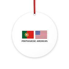 Portuguese American Ornament (Round)