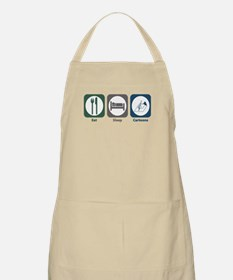Eat Sleep Cartoons BBQ Apron