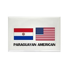 Paraguayan American Rectangle Magnet