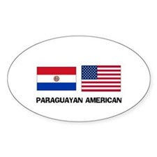 Paraguayan American Oval Decal