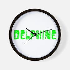 Delphine Faded (Green) Wall Clock