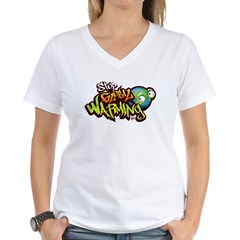Stop Global Warming - Graffit Women's V-Neck T-Shi