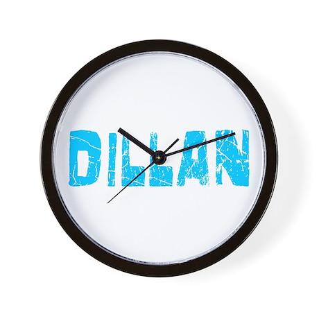 Dillan Faded (Blue) Wall Clock