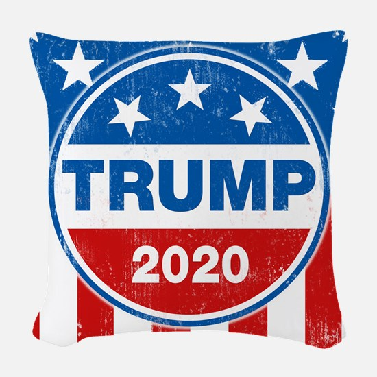 Donald Trump 2020 Woven Throw Pillow