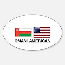 Omani American Oval Decal