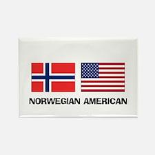 Norwegian American Rectangle Magnet
