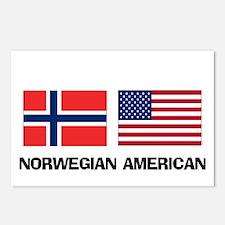 Norwegian American Postcards (Package of 8)
