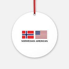Norwegian American Ornament (Round)