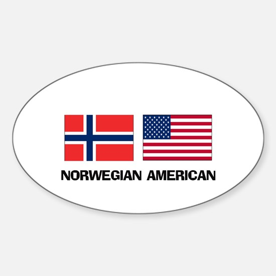 Norwegian American Oval Decal