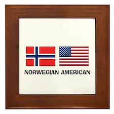 Norwegian American Framed Tile