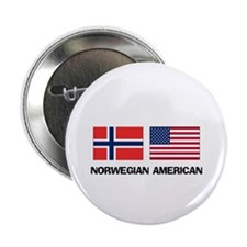 "Norwegian American 2.25"" Button"