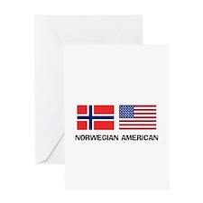 Norwegian American Greeting Card