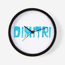Dimitri Faded (Blue) Wall Clock
