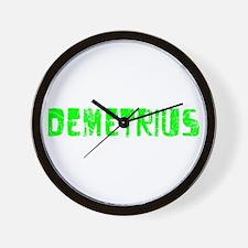 Demetrius Faded (Green) Wall Clock