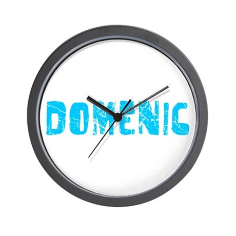 Domenic Faded (Blue) Wall Clock