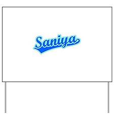 Retro Saniya (Blue) Yard Sign