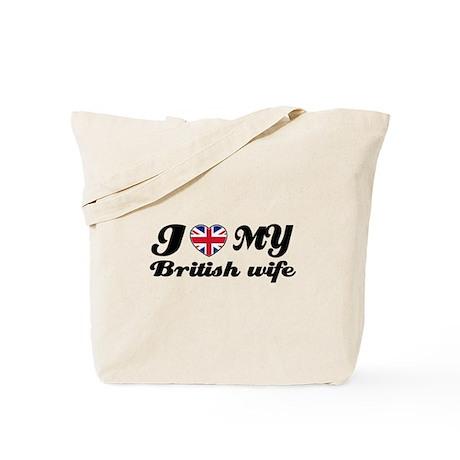 I love my British Wife Tote Bag
