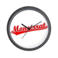 Retro Monserrat (Red) Wall Clock