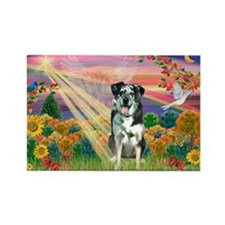 Autumn Angel / Catahoula Rectangle Magnet