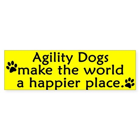 Happy Place Agility Bumper Sticker
