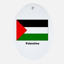 Palestine Palestinian Flag Keepsake (Oval)