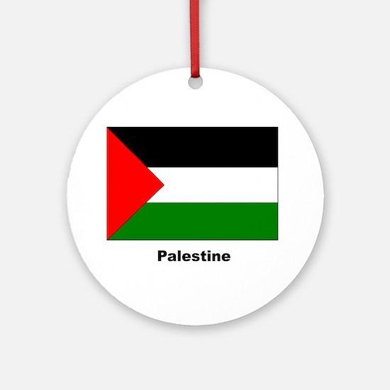 Palestine Palestinian Flag Keepsake (Round)