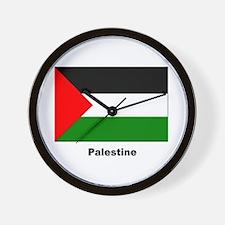 Palestine Palestinian Flag Wall Clock