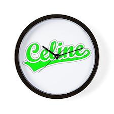Retro Celine (Green) Wall Clock