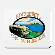 Hotel on wheels Mousepad