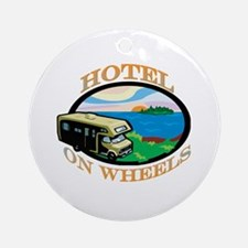 Hotel on wheels Ornament (Round)