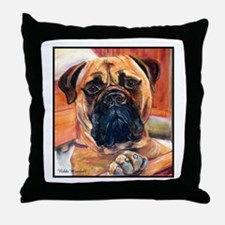 Cute Mastiff art Throw Pillow