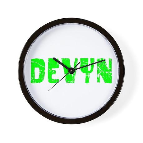 Devyn Faded (Green) Wall Clock