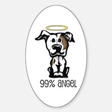 99% Angel Pit Bull Oval Decal