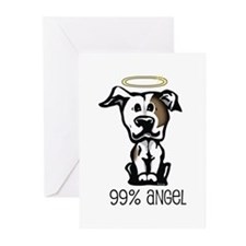 99% Angel Pit Bull Greeting Cards (Pk of 10)