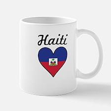 Haiti Flag Heart Mugs