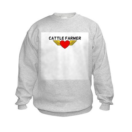 Cattle Farmer Kids Sweatshirt