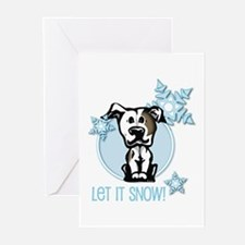 Let it Snow Pit Bull Greeting Cards (Pk of 10)