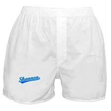 Retro Shannon (Blue) Boxer Shorts