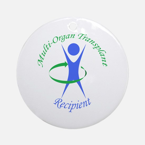 Multi-Organ Transplant Recipi Ornament (Round)
