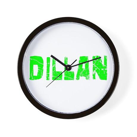 Dillan Faded (Green) Wall Clock