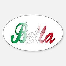 Italian girls Oval Decal