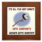 Roasted Wiener Framed Tile