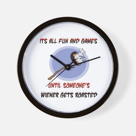 Roasted Wiener Wall Clock