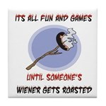Roasted Wiener Tile Coaster
